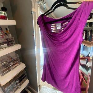 Purple night out shirt